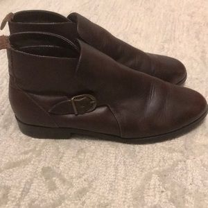 Prima Royale  brown 8.5 W leather ankle boots